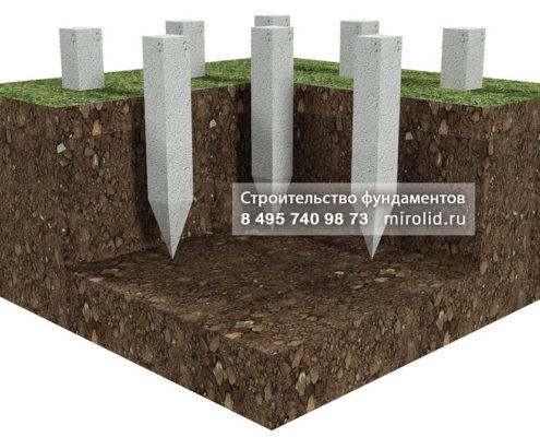 фундамент ЖБ сваи