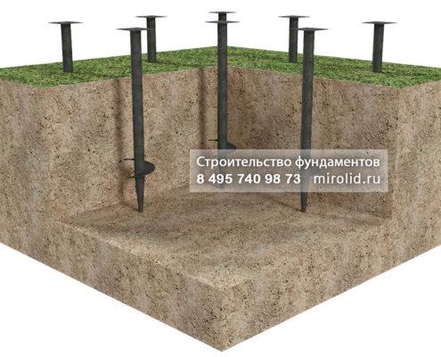 фундамент винтовые сваи