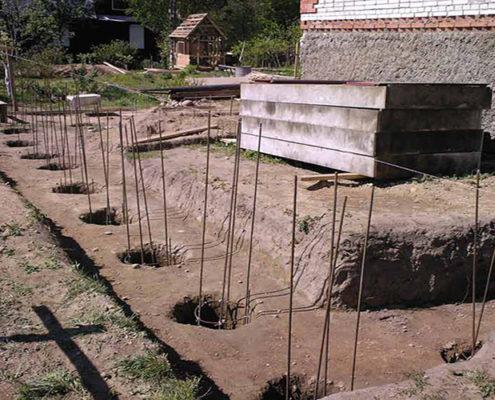 строительство буронабивного фундамента