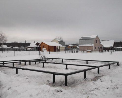 свайно-винтовой фундамент в Московской области