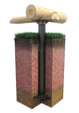 свайно-винтовой фундамент под дерево
