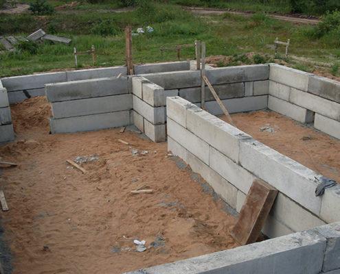 фундамент из блоков под ключ