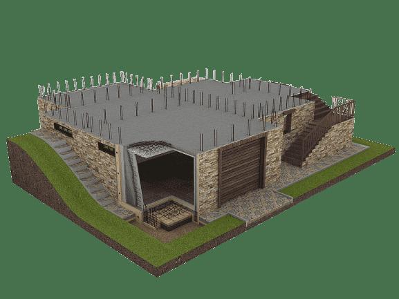 проект фундамента с цоколем