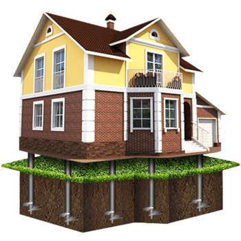 проект дом винтовой фундамент